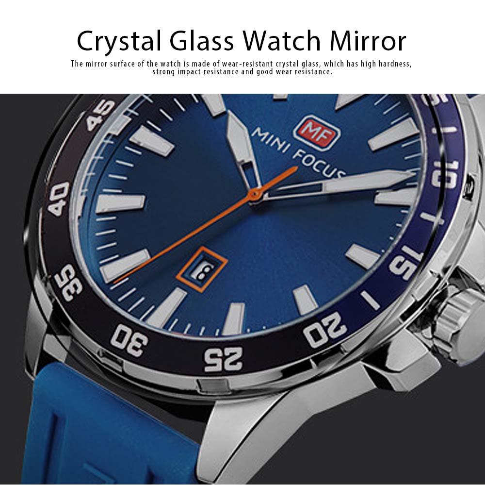 Sports Watch for Men Japanese Movement Waterproof Luminous Silicone Watchband 0020G Quartz Watch 3