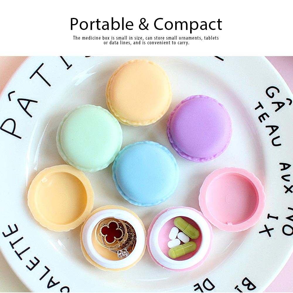 Macaron Medicine Box PP Portable Candy Color Pill Jewelry Organizer Creativity Cute Outdoor Pill Box Tablets Container 4