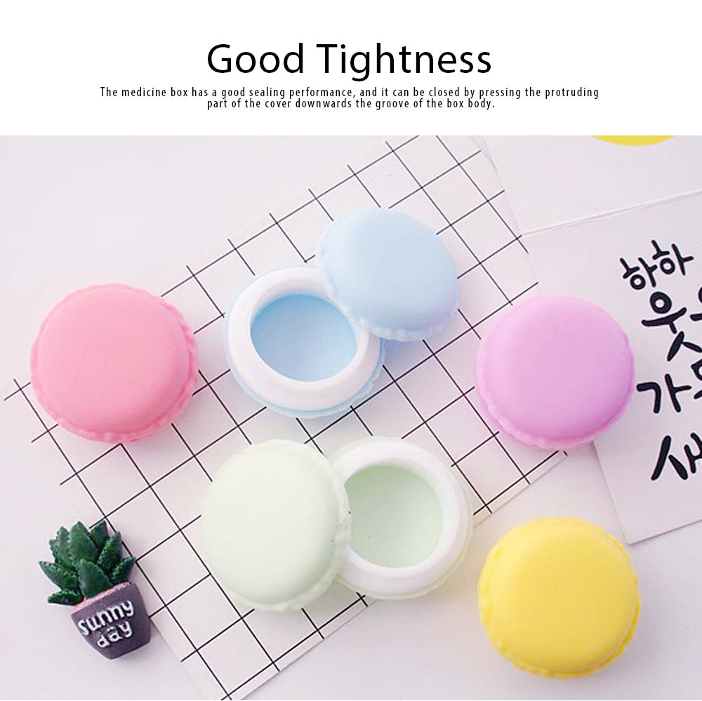 Macaron Medicine Box PP Portable Candy Color Pill Jewelry Organizer Creativity Cute Outdoor Pill Box Tablets Container 3