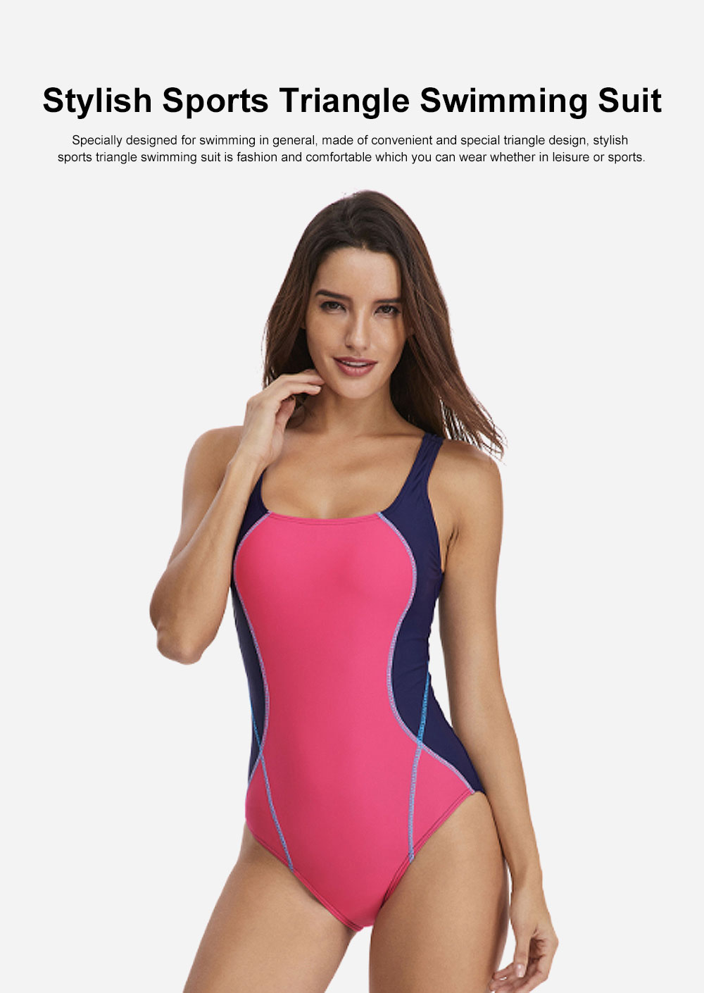 Europe & America Sport Swimming Suit Professional Competitive & Comfortable Bathing Suit, Stylish Sports Triangle Swimwear Suit Bikini 0