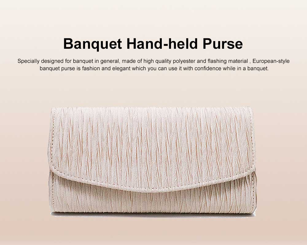 Hot Style Party Dinner Purse, European & America Style Banquet Hand-held Purse, Sateen & Bridal Purse 0