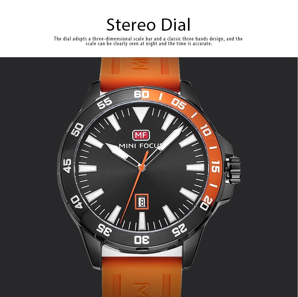 Sports Watch for Men Japanese Movement Waterproof Luminous Silicone Watchband 0020G Quartz Watch 2