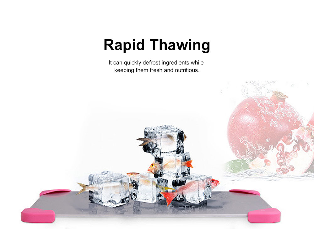 Rapid Lightning Thawing Board, Creative Quick Physical Defrost of Household Kitchen Supplies, Non-skid Thawing Plate 1