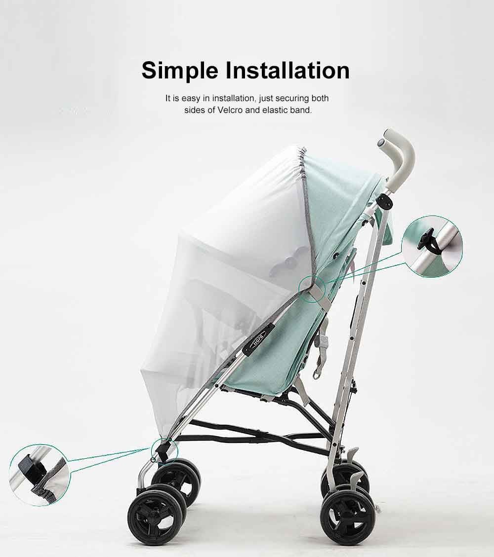 Baby Stroller Sunscreen Anti-uv Mosquito Net Baby Car Mosquito Net Cover Children's Trolley Easy Installation 10