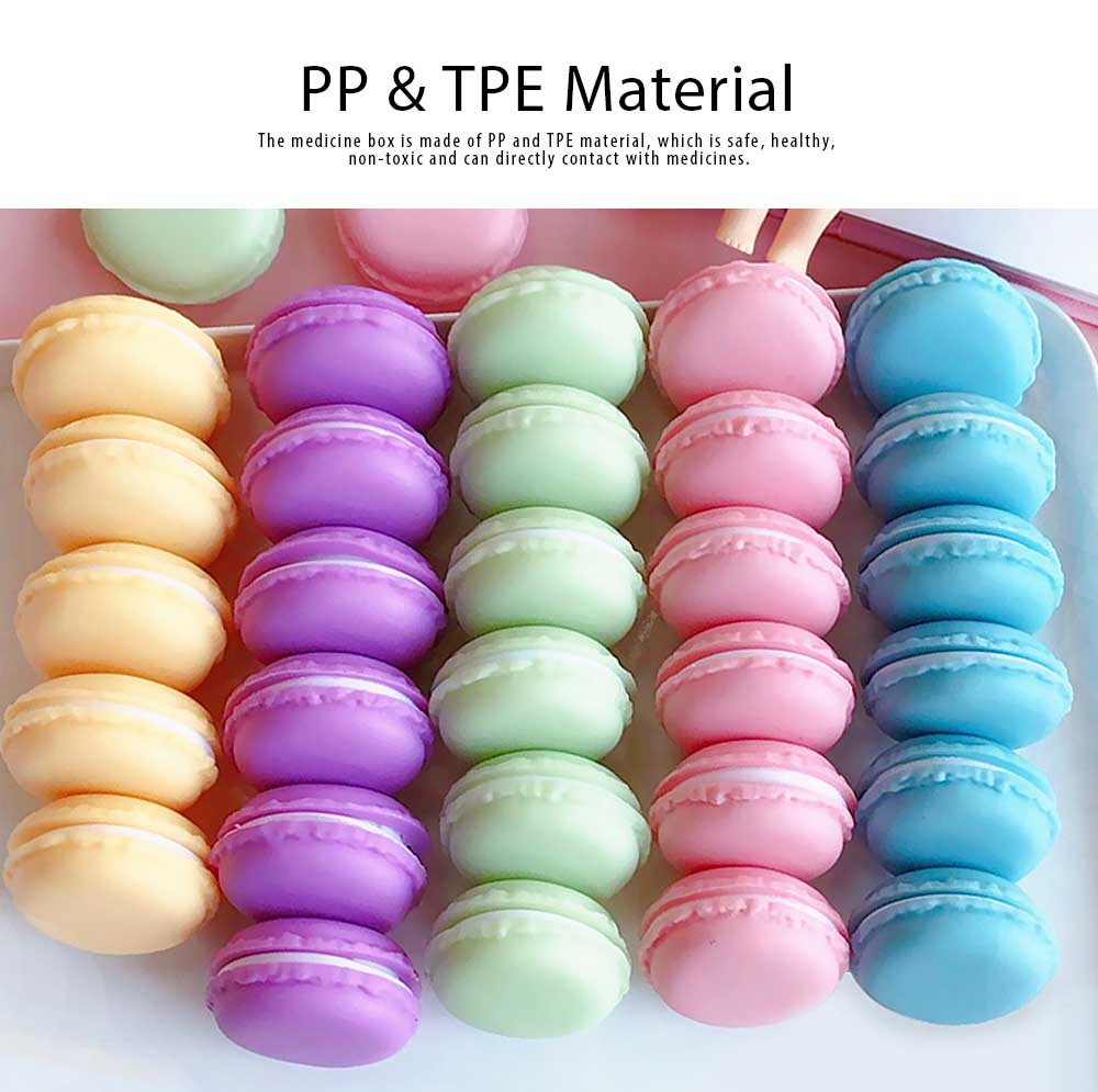 Macaron Medicine Box PP Portable Candy Color Pill Jewelry Organizer Creativity Cute Outdoor Pill Box Tablets Container 1