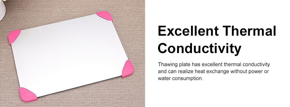 Rapid Lightning Thawing Board, Creative Quick Physical Defrost of Household Kitchen Supplies, Non-skid Thawing Plate 5