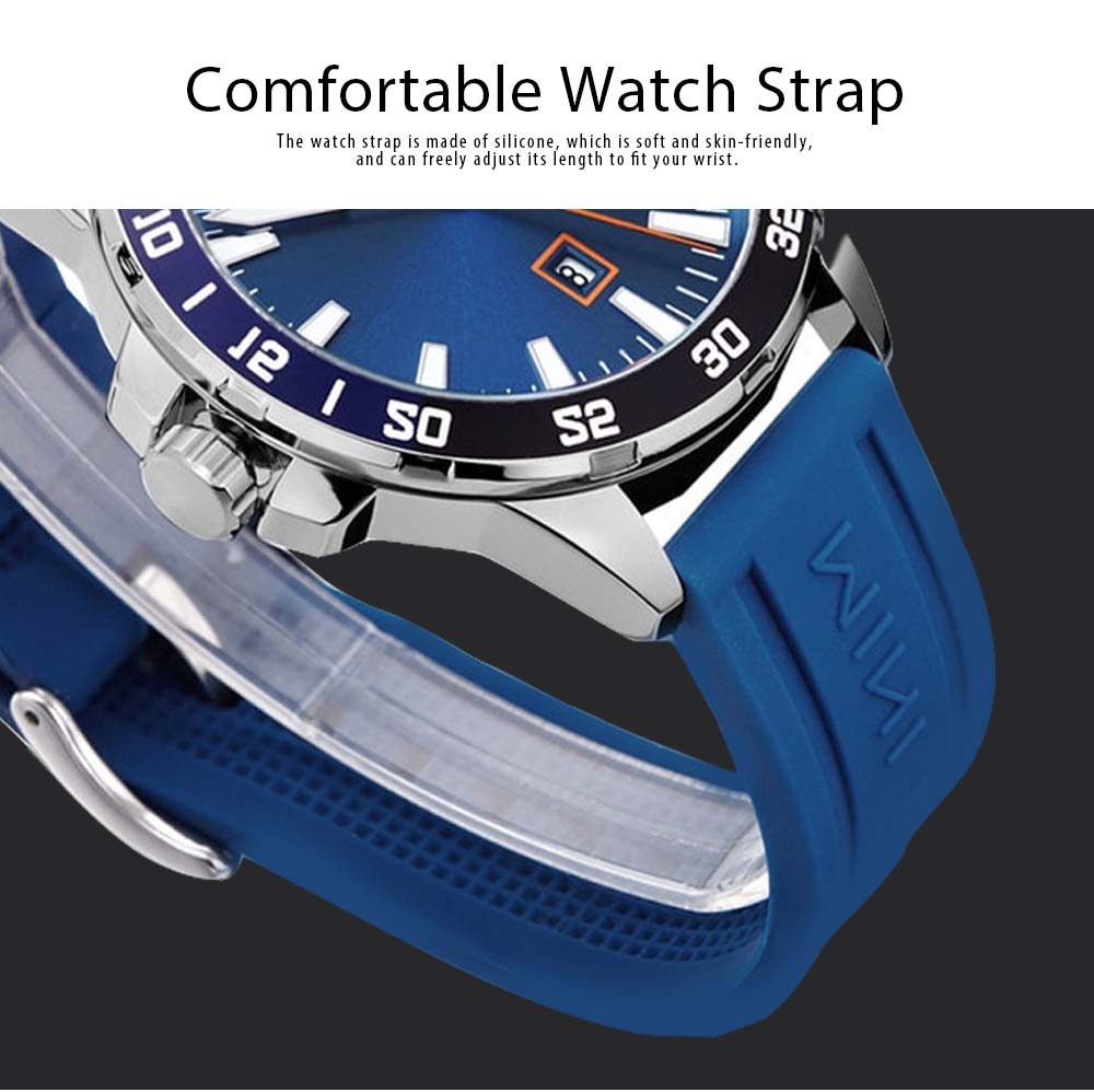 Sports Watch for Men Japanese Movement Waterproof Luminous Silicone Watchband 0020G Quartz Watch 4