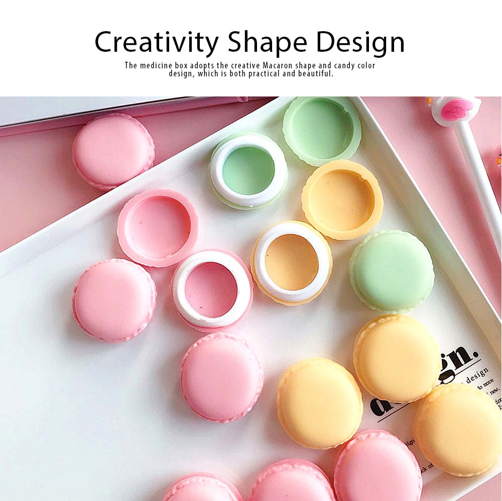 Macaron Medicine Box PP Portable Candy Color Pill Jewelry Organizer Creativity Cute Outdoor Pill Box Tablets Container 2