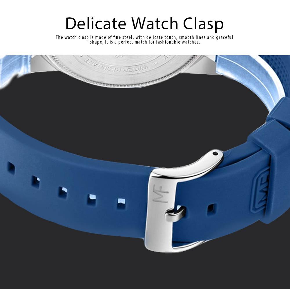 Sports Watch for Men Japanese Movement Waterproof Luminous Silicone Watchband 0020G Quartz Watch 5