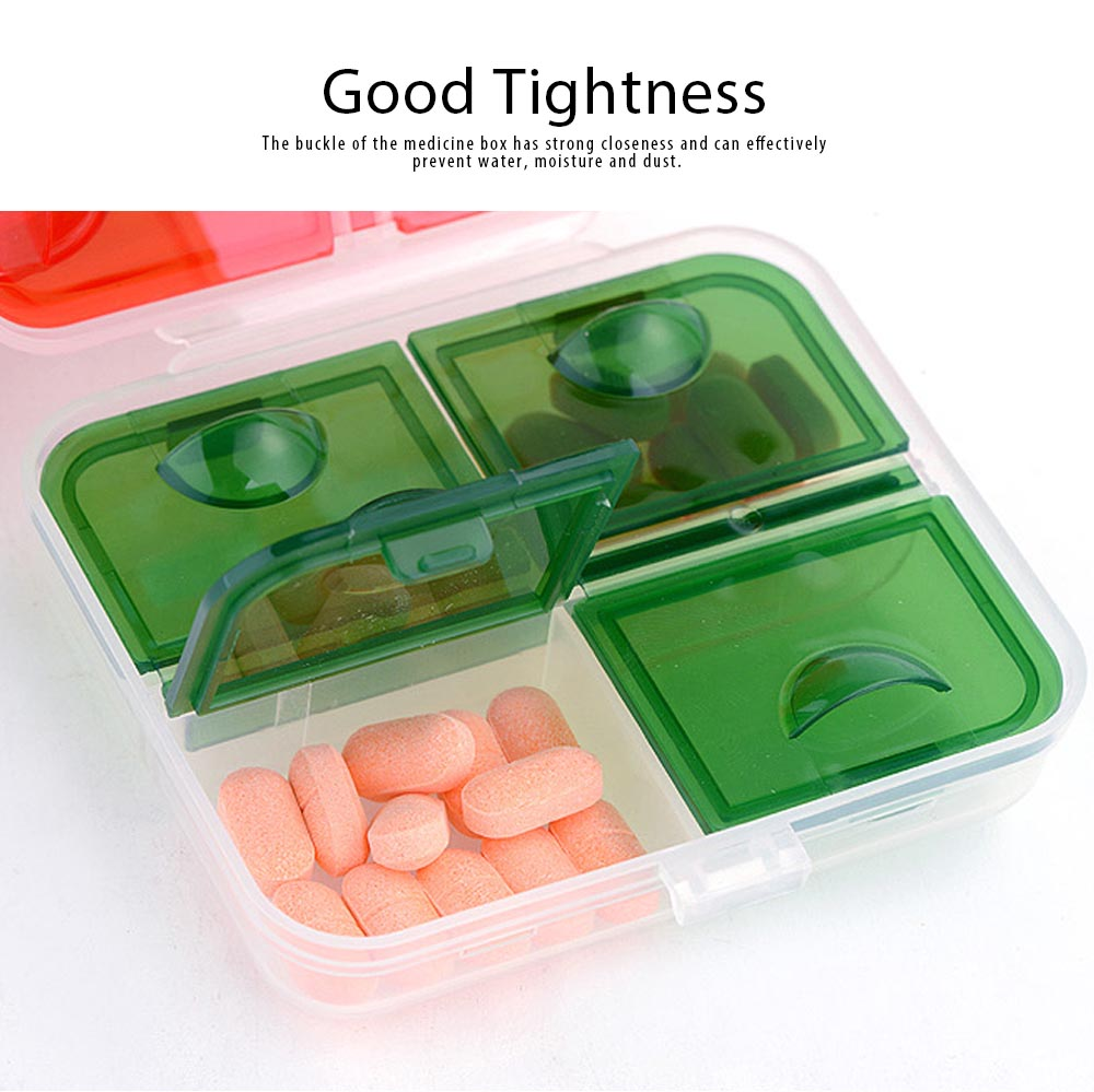 Pp Portable Pill Case For 7 Day Use, 7 Compartments Mini Medicine Box Christmas Style Travel Outdoor Pill Keeper 3