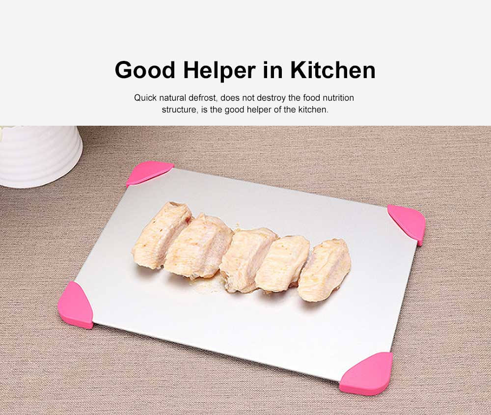 Rapid Lightning Thawing Board, Creative Quick Physical Defrost of Household Kitchen Supplies, Non-skid Thawing Plate 2