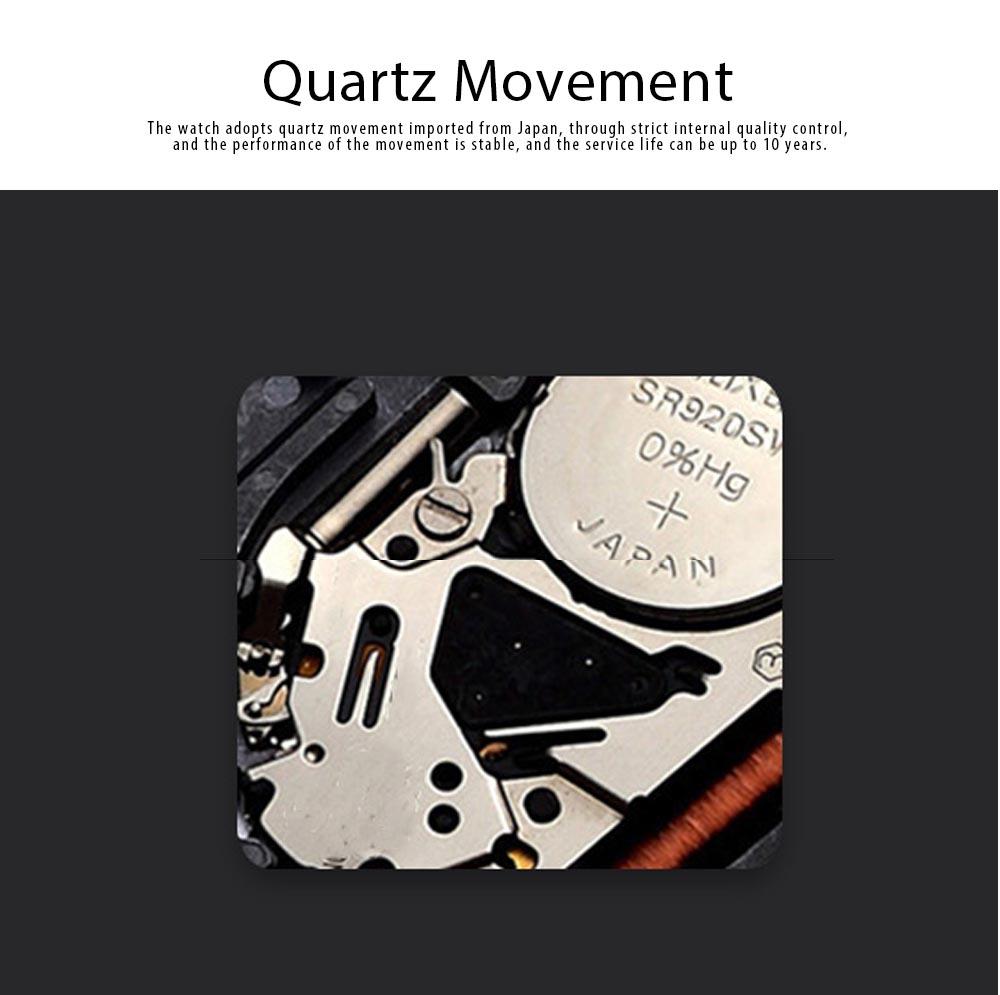 Sports Watch for Men Japanese Movement Waterproof Luminous Silicone Watchband 0020G Quartz Watch 1