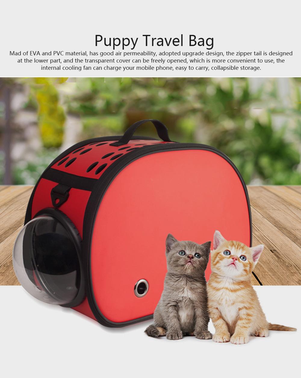 Pet Bag Intelligent Cooling EVA Puppy Travel Cage Portable Collapsible One Shoulder Handbag for Pet Dog Cat Travel Bag 0