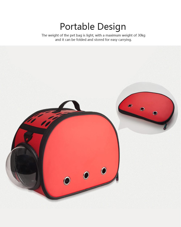 Pet Bag Intelligent Cooling EVA Puppy Travel Cage Portable Collapsible One Shoulder Handbag for Pet Dog Cat Travel Bag 4