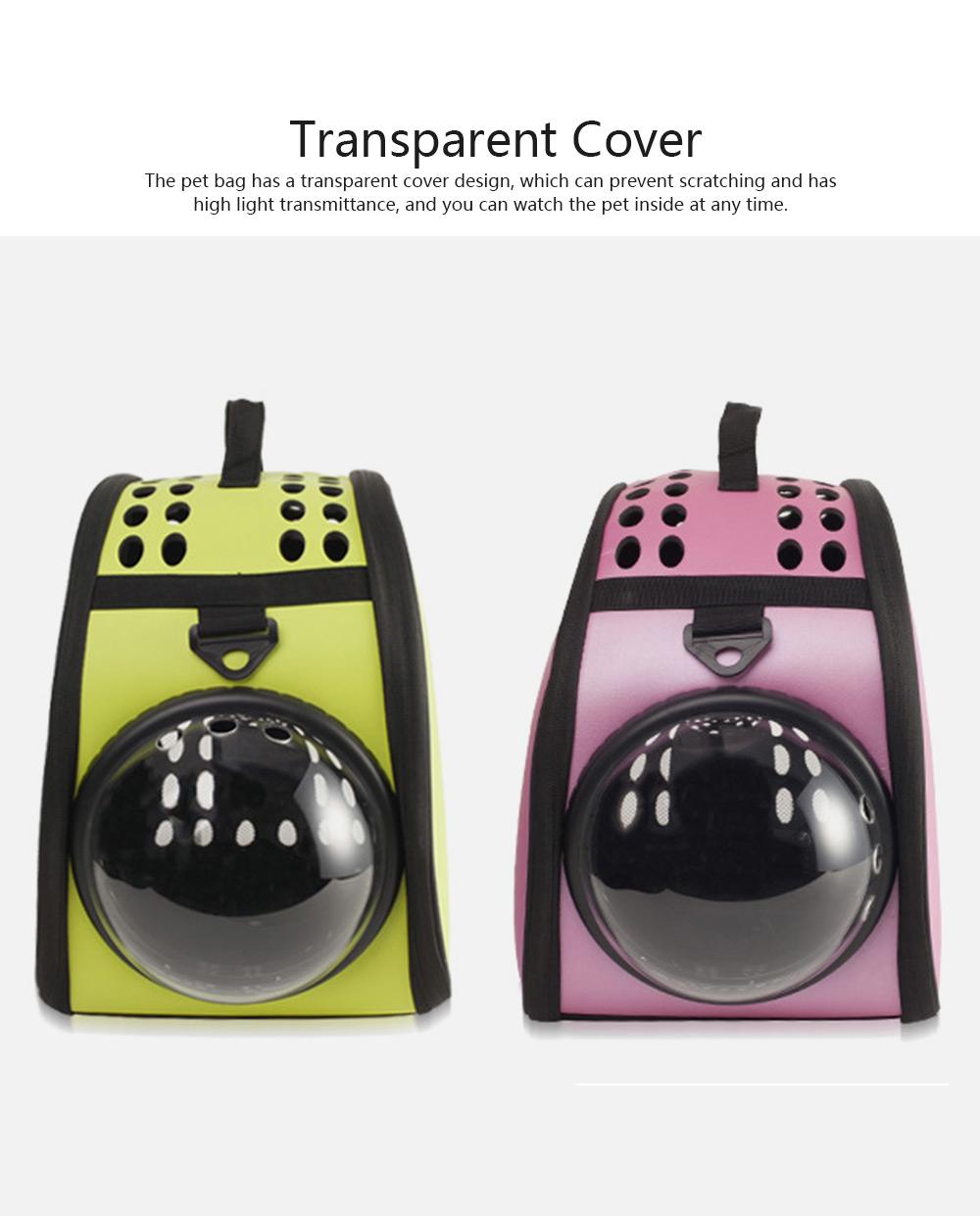 Pet Bag Intelligent Cooling EVA Puppy Travel Cage Portable Collapsible One Shoulder Handbag for Pet Dog Cat Travel Bag 3