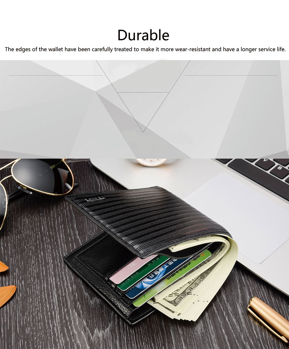 Top Grade PU Leather Business Short Wallet for Men ID Card Holder Handbag Slim Clutch Purse Wallet 4