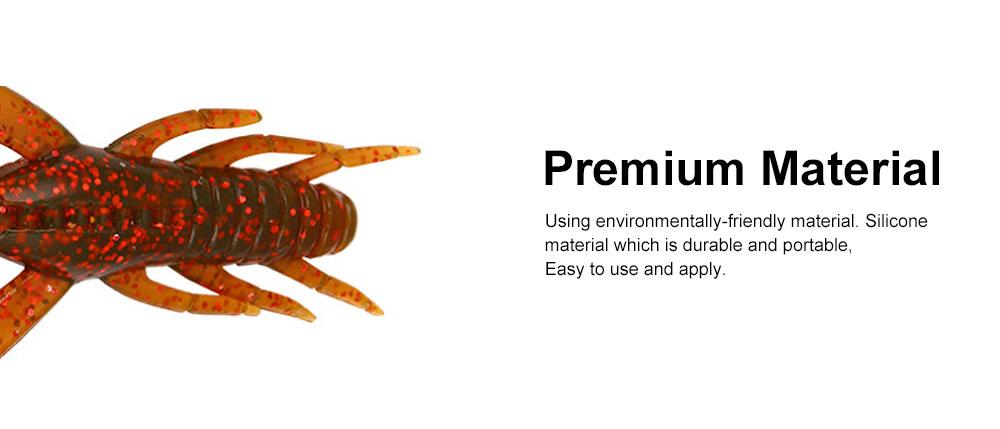 Silicone Shrimp Fishing Lures Silica Gel Artificial Lure Shrimp Soft Crawfish Lures Fishing Lure Bait 2