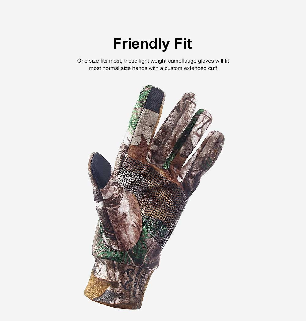 Outdoor Camouflage Gloves Thin Section Windproof Warm Gloves Anti-slip Fishing Gloves For Men, Women 1