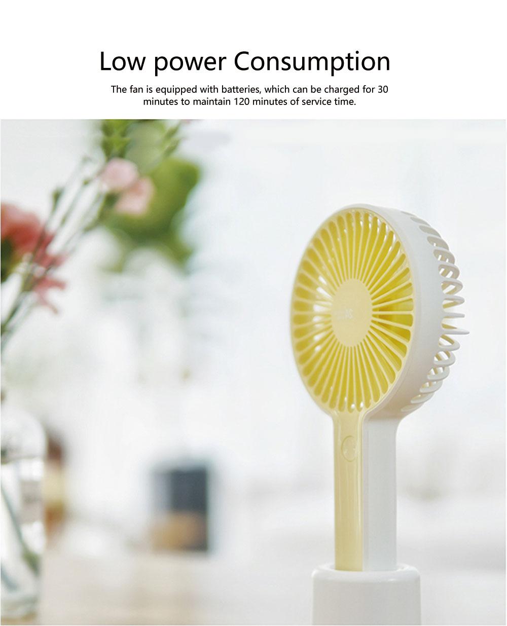 Besiter Mini USB Charging Portable Hand-held Mute Strong Wind Fan for Students Electric Fan Household Fan 1