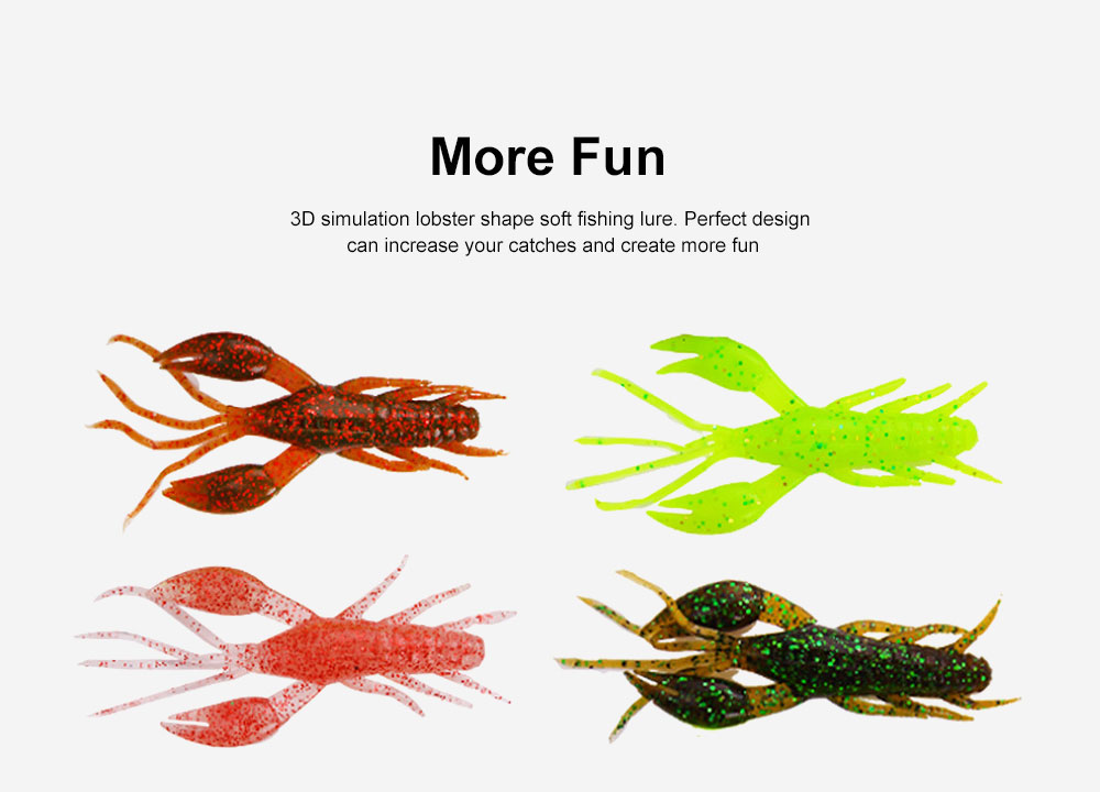 Silicone Shrimp Fishing Lures Silica Gel Artificial Lure Shrimp Soft Crawfish Lures Fishing Lure Bait 1