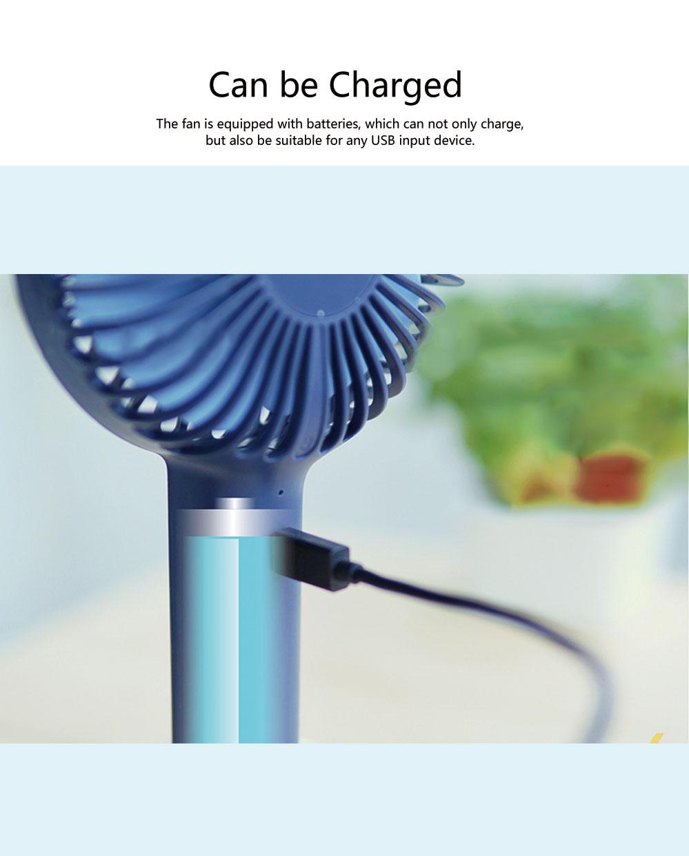 Besiter Mini USB Charging Portable Hand-held Mute Strong Wind Fan for Students Electric Fan Household Fan 5
