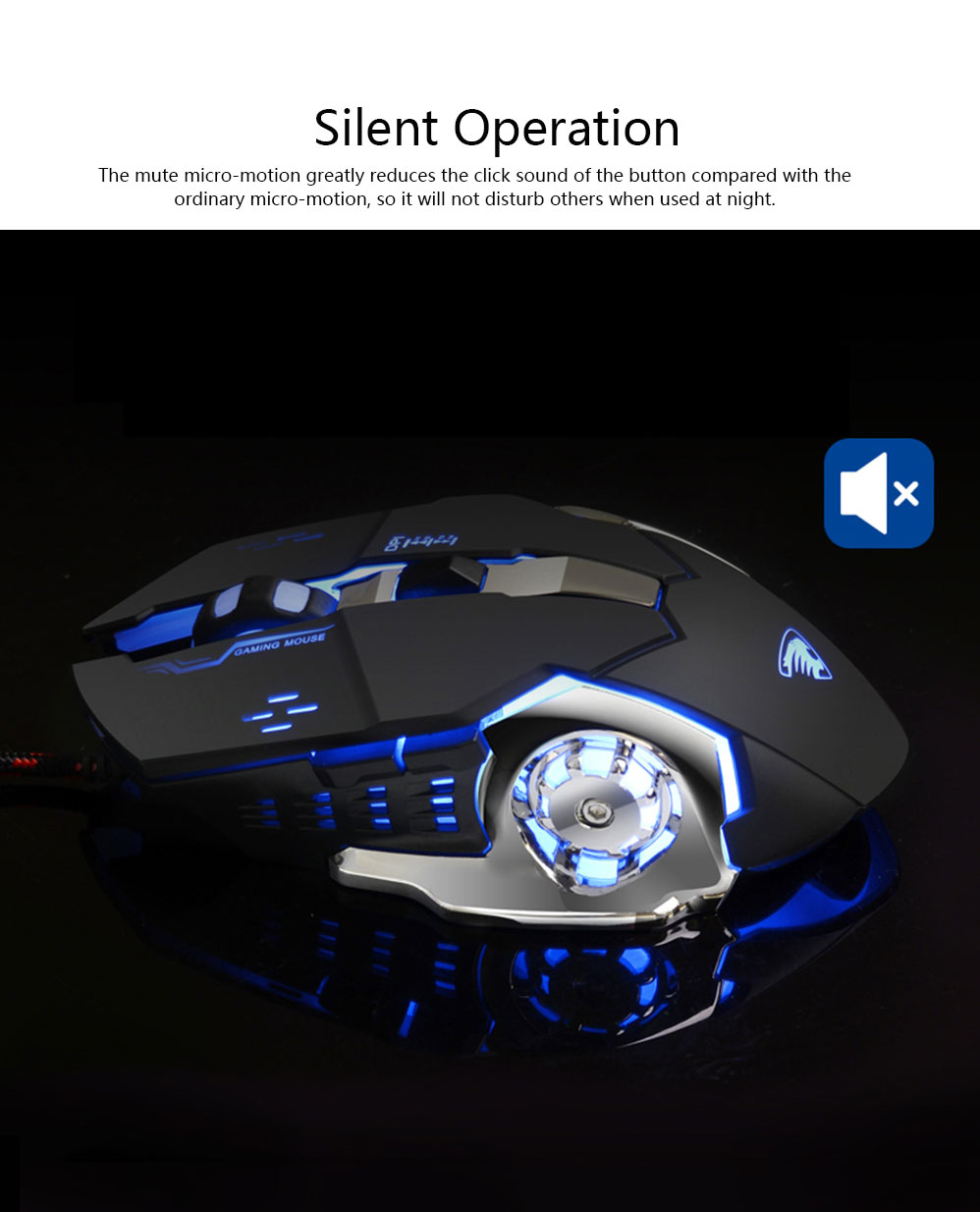Gaming Mouse Wired Macro-program Mouse Mute for Laptop Office Mechanical Mouse Designed for Games 3