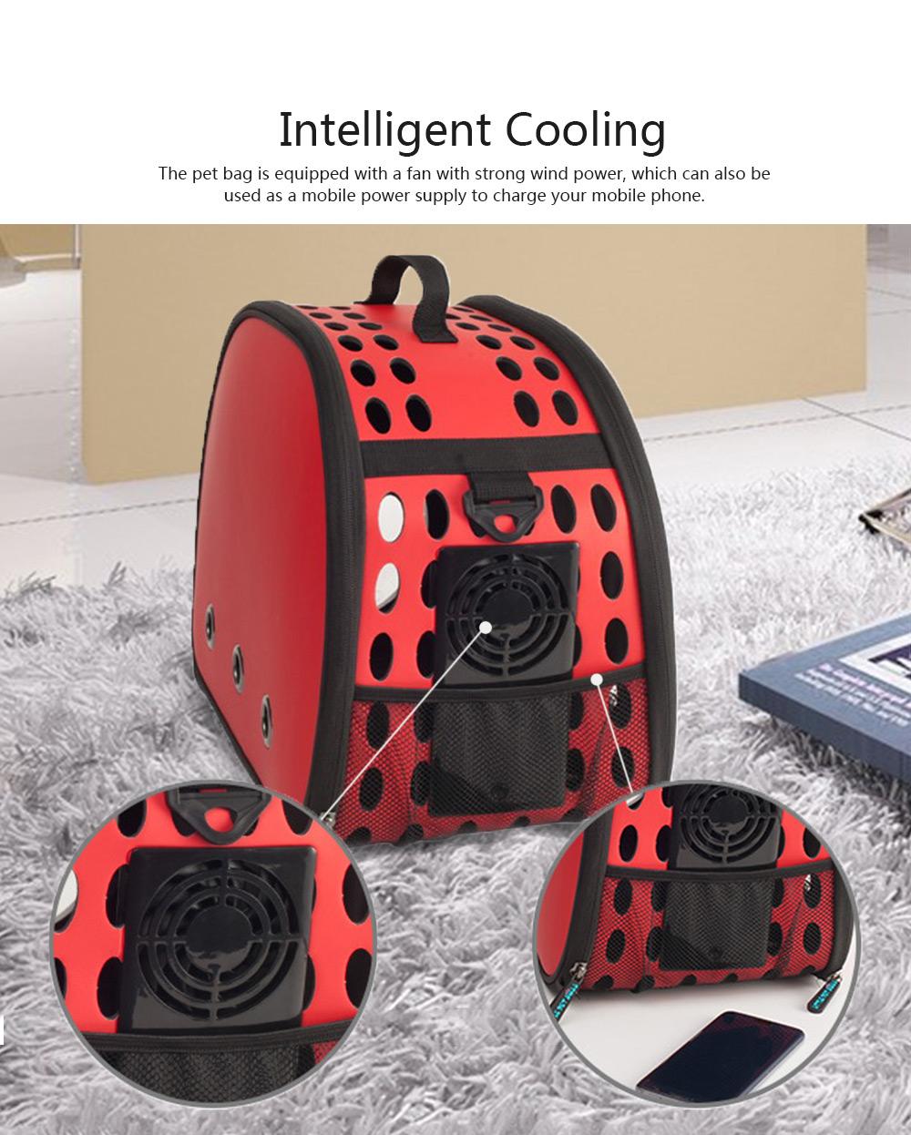 Pet Bag Intelligent Cooling EVA Puppy Travel Cage Portable Collapsible One Shoulder Handbag for Pet Dog Cat Travel Bag 5