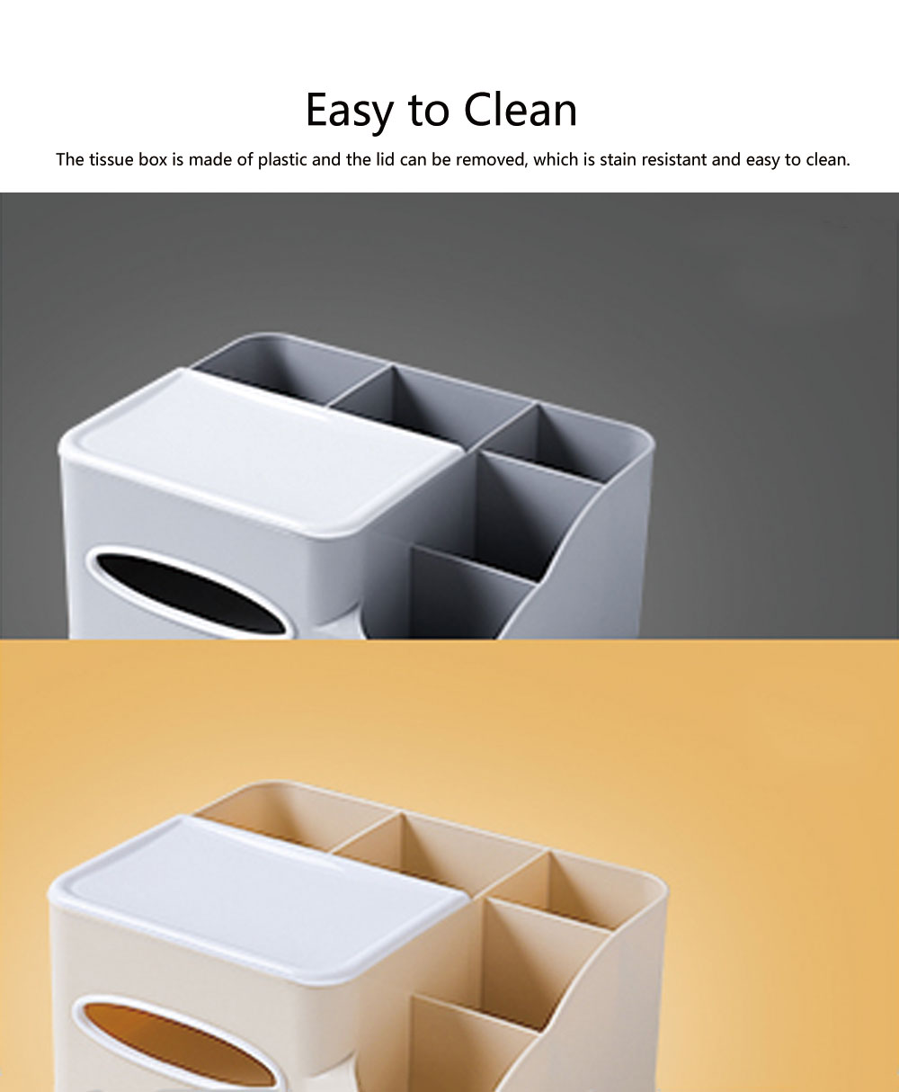 Storage Box Plastic Multifunctional Tissue Box Creativity Sorting Box for Remote Controller Sundries Container 5