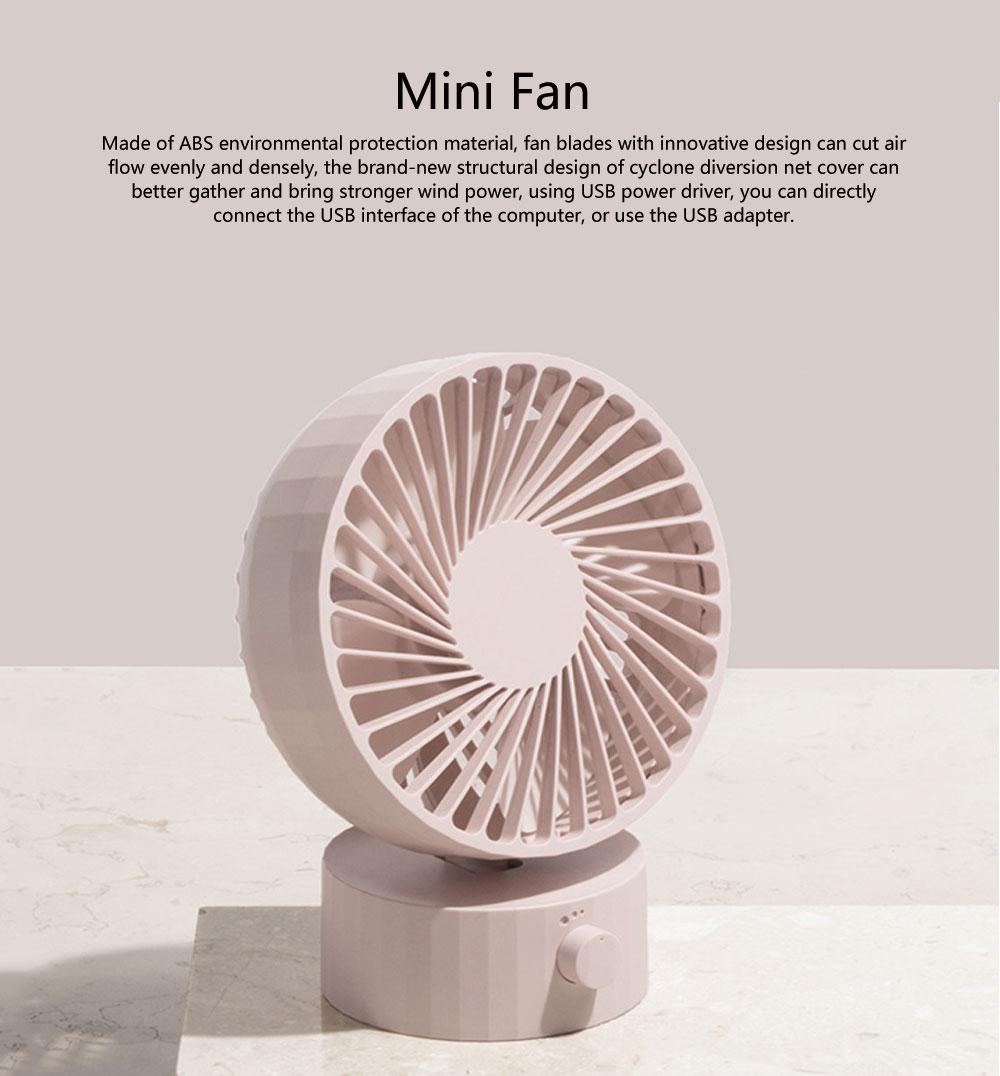 SOLOVE Mini Fan USB Portable Intelligent Fan Hand-held Fan for Student Dormitory Desktop Office Electric Fan 0