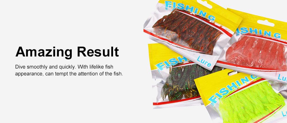 Silicone Shrimp Fishing Lures Silica Gel Artificial Lure Shrimp Soft Crawfish Lures Fishing Lure Bait 5