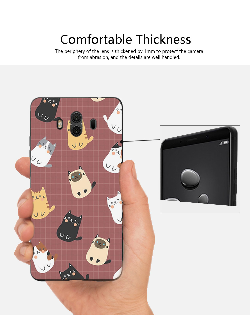 Cameo Brown Silicone Soft Shell for HUAWEI Mate 9 Pro, 10, 20 Pro, 20x All-inclusive Protection Fall Prevention Mobile Phone Case 4