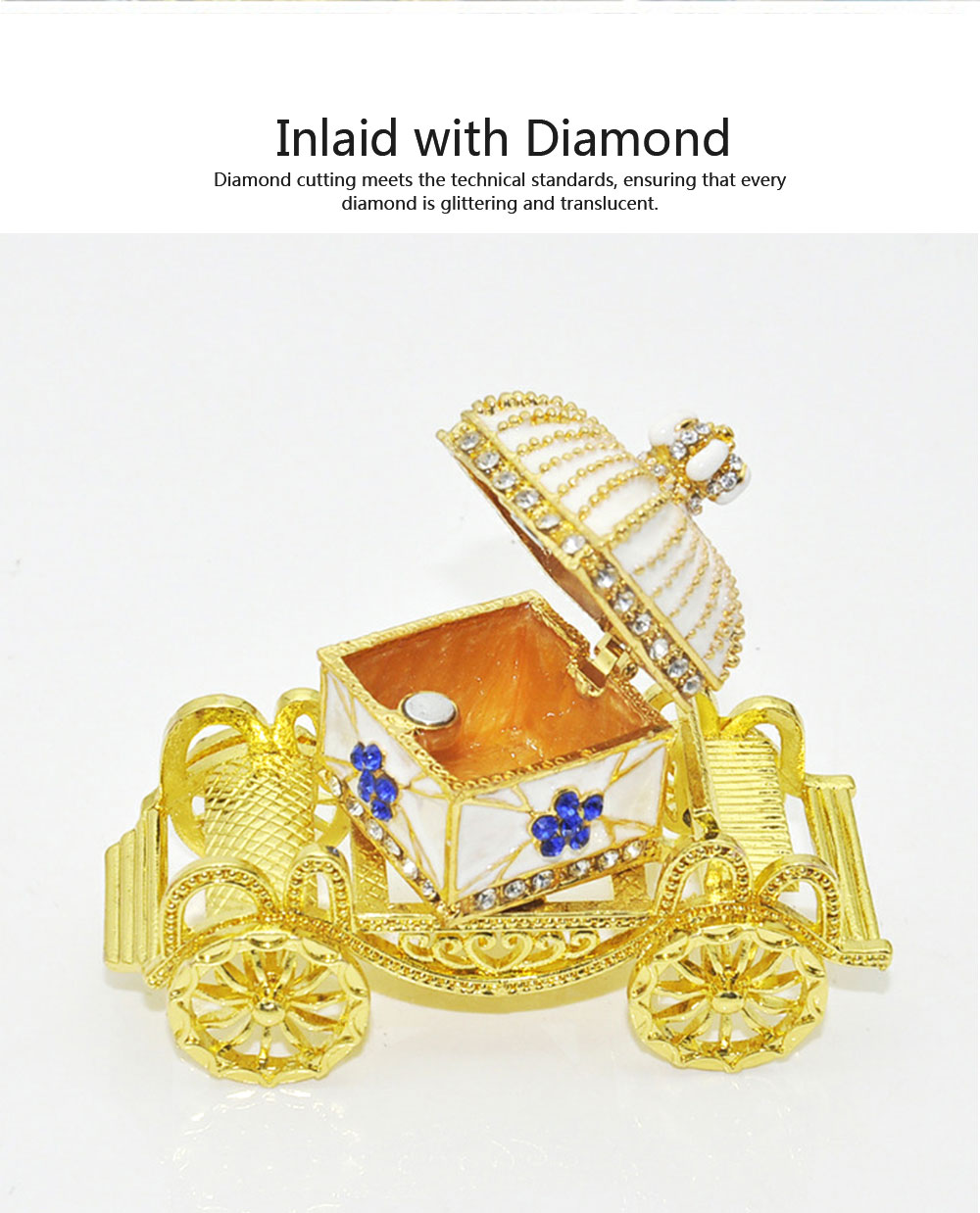 Diamond Crown Car European Enamel Painting Technology Creativity Metal Decoration for Home Valentine's Day Gift 2