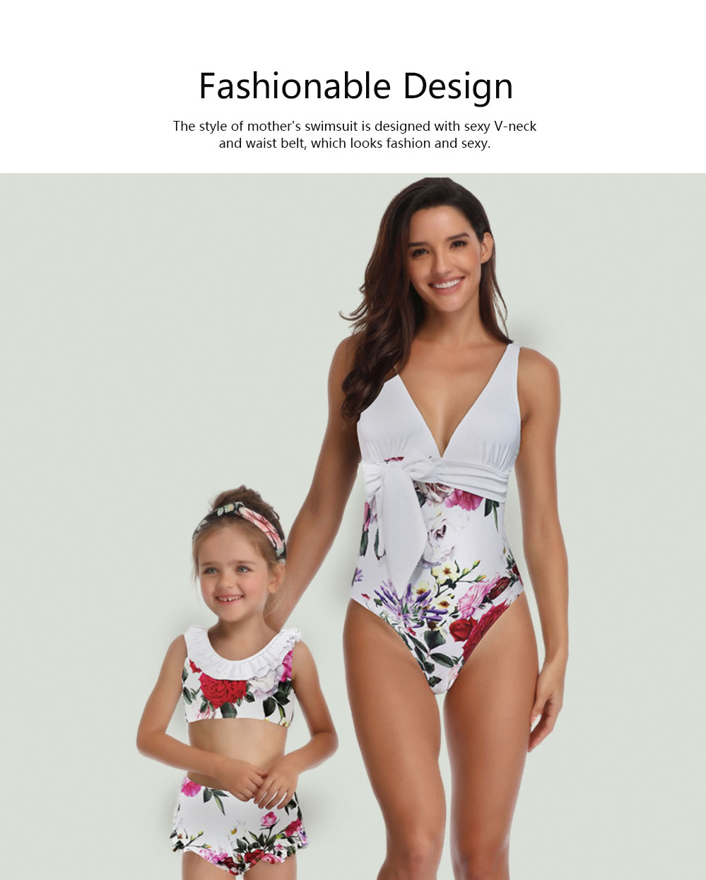 One Piece Swimsuit Fashionable Bathing Suit for Parent-child Hot Sale in Europe and America Swimsuit 2019 2