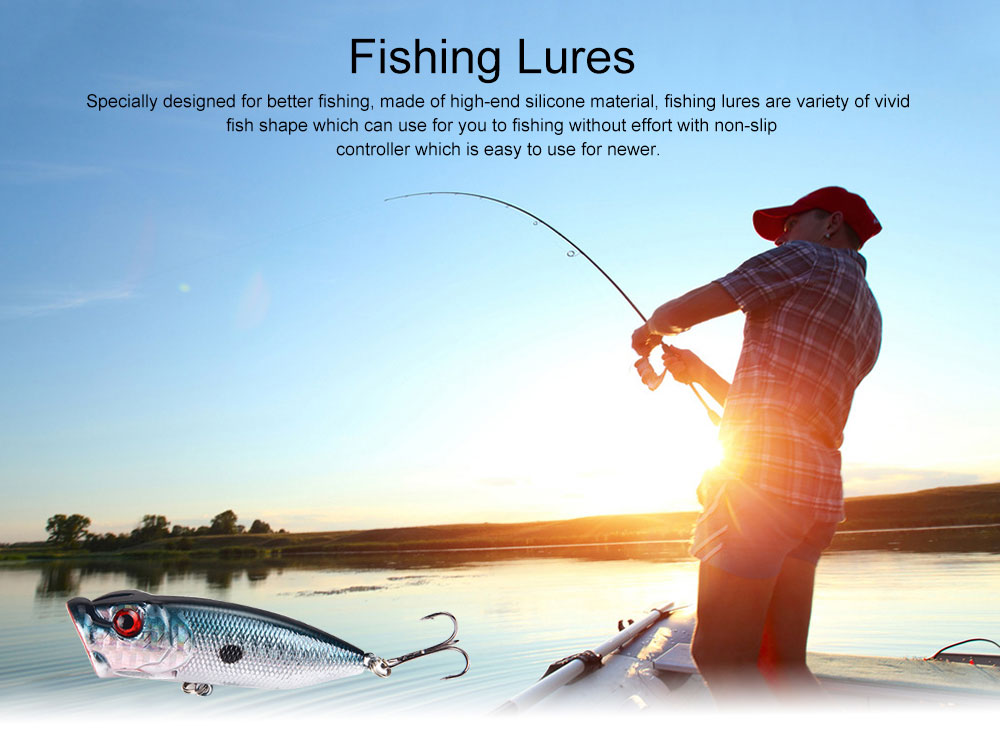 38 Outfit Fishing Lures with Various Style and Variety of Shape, Silicone Baits, Attractants for Saltwater and Freshwater 0