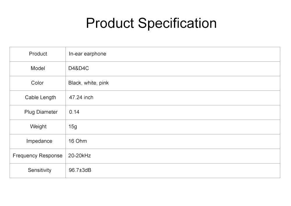 Langsdom D4 Universal Earphone Mega Bass Quad-core Powder Double Dynamic In-ear HiFi Earphone for Mobile Phone 7