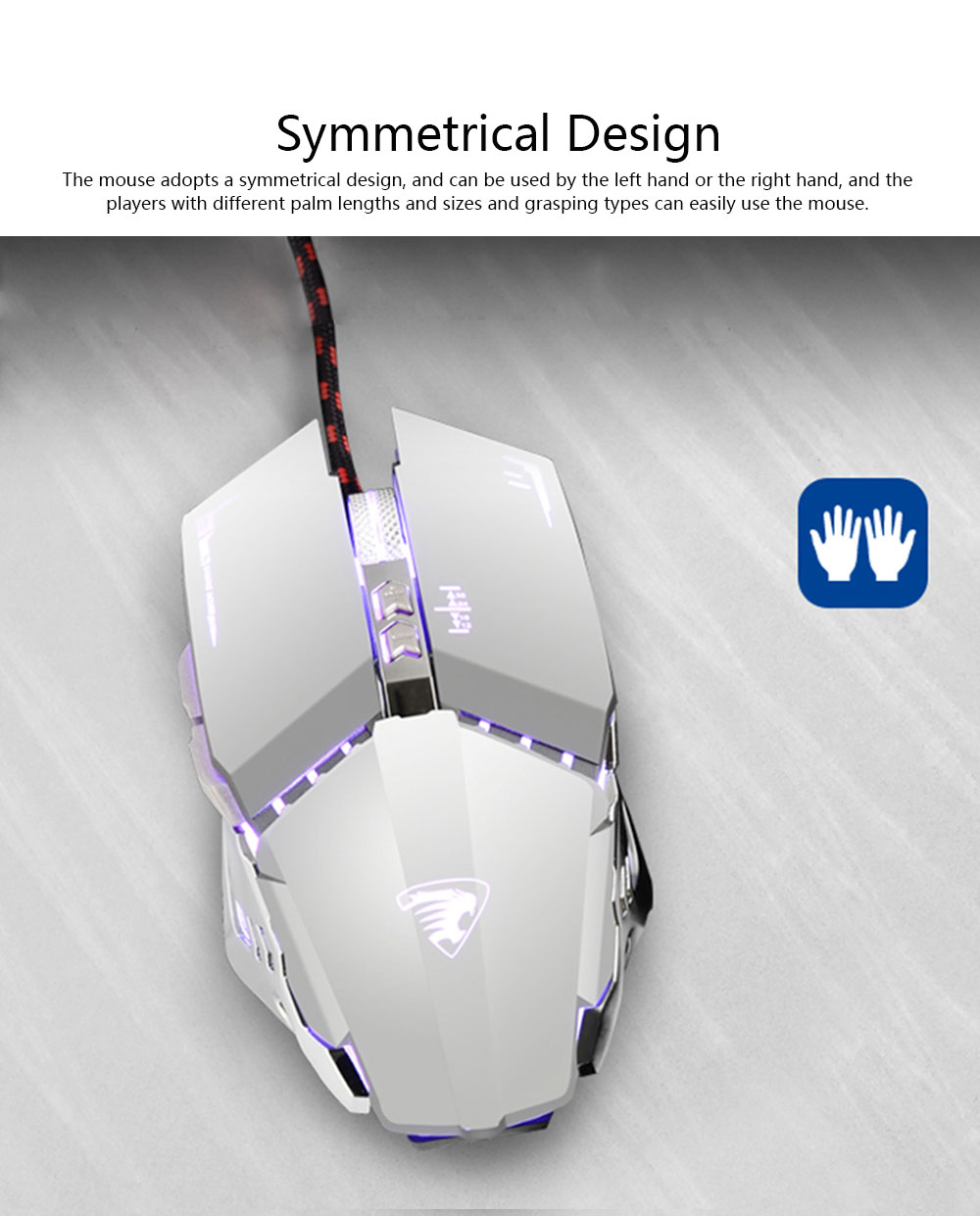 Gaming Mouse Wired Macro-program Mouse Mute for Laptop Office Mechanical Mouse Designed for Games 4