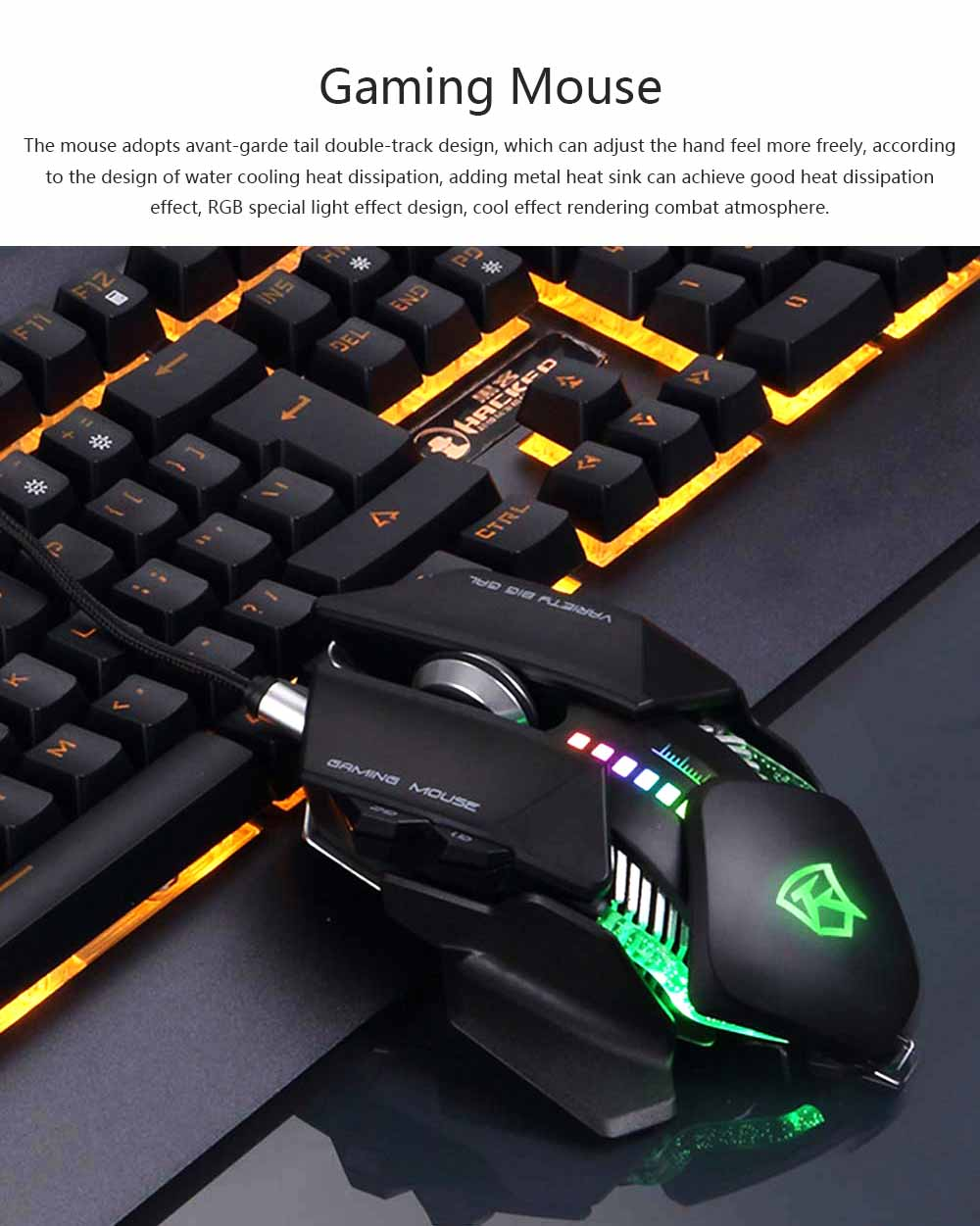 Gaming USB Wired Mechanical Mouse for Macro-program Internet Bar Computer E-sports LOL Gaming Mouse 0