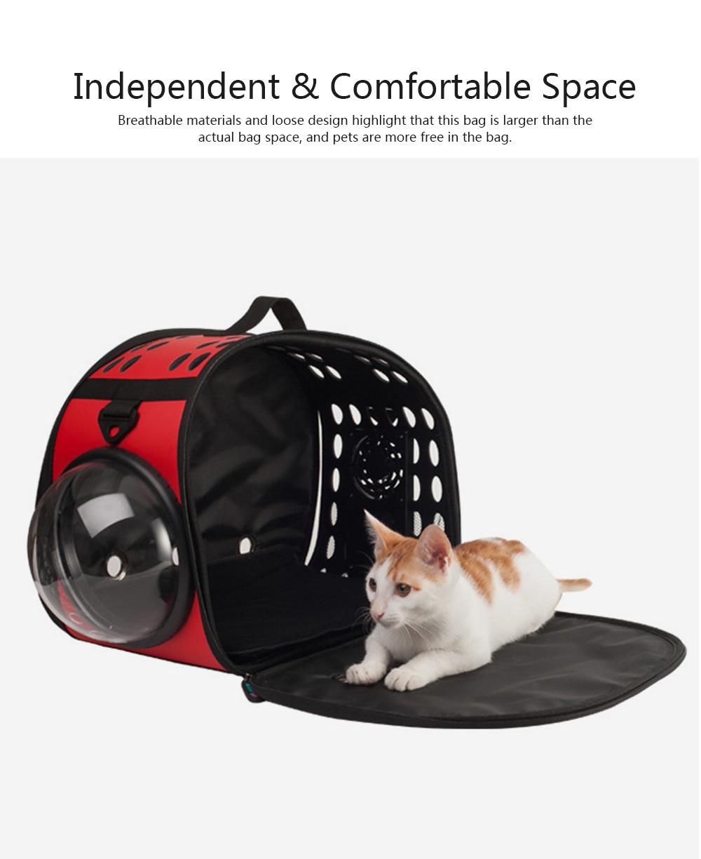 Pet Bag Intelligent Cooling EVA Puppy Travel Cage Portable Collapsible One Shoulder Handbag for Pet Dog Cat Travel Bag 2