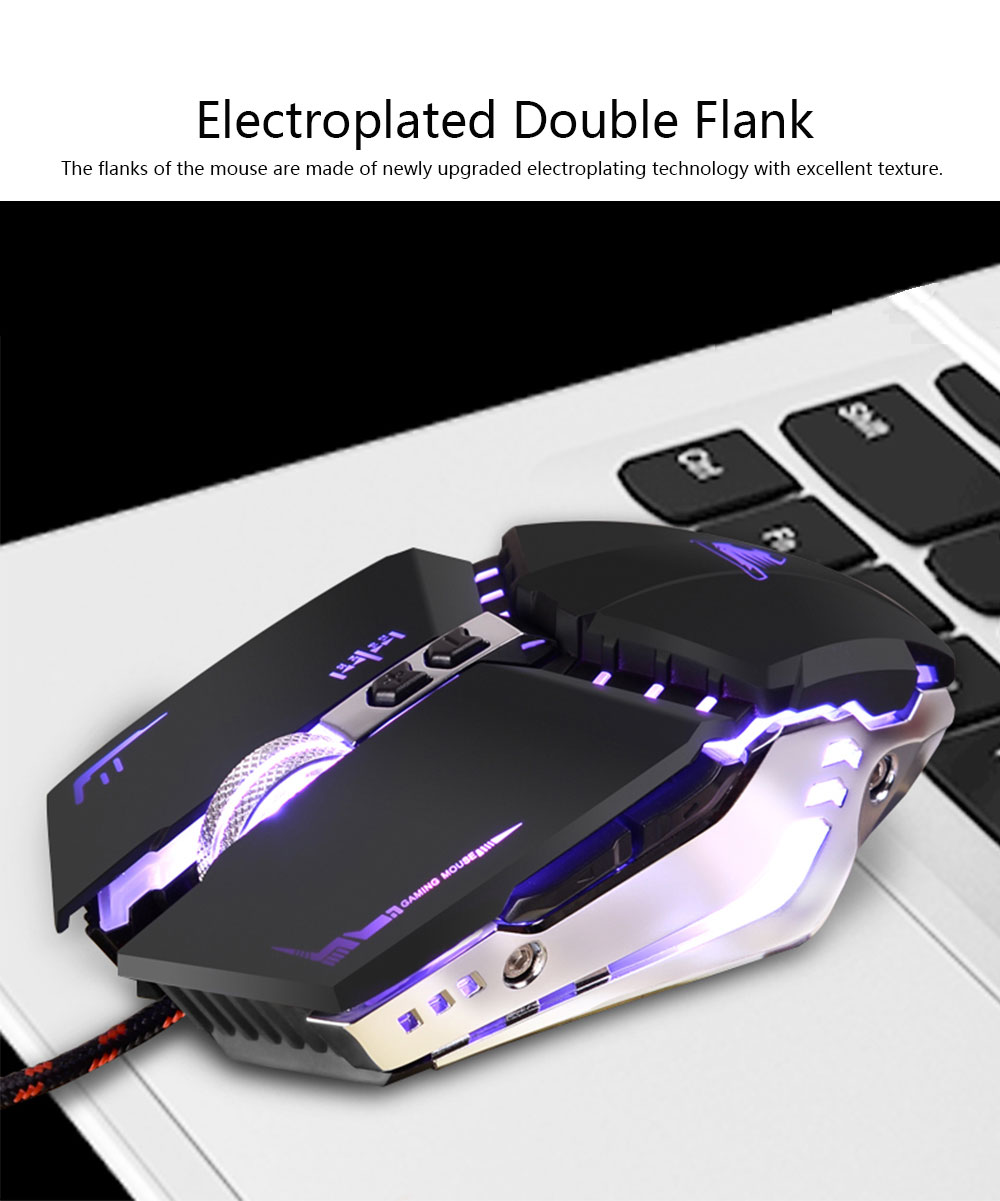 Gaming Mouse Wired Macro-program Mouse Mute for Laptop Office Mechanical Mouse Designed for Games 1
