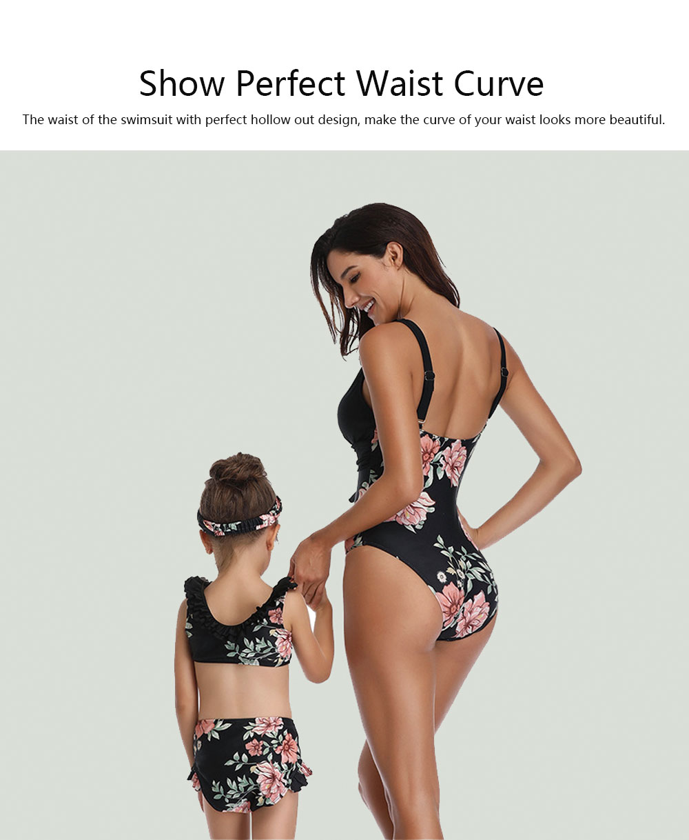 One Piece Swimsuit Fashionable Bathing Suit for Parent-child Hot Sale in Europe and America Swimsuit 2019 3