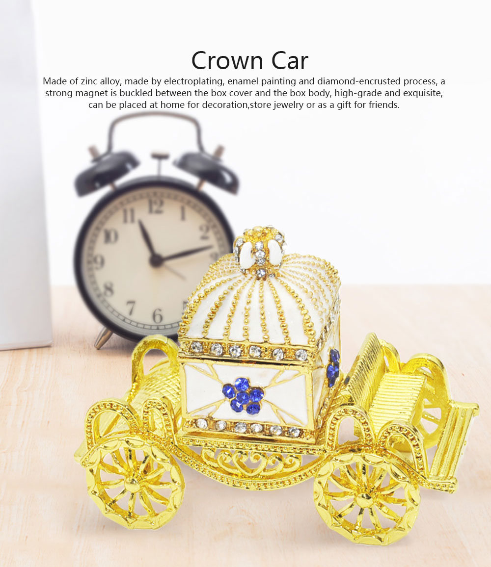 Diamond Crown Car European Enamel Painting Technology Creativity Metal Decoration for Home Valentine's Day Gift 0