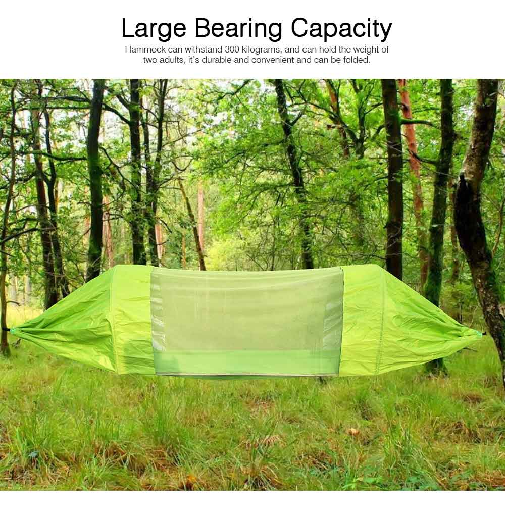 Outdoor Camping Hammock Nylon Material Enclose Style Parachute Cloth Anti-Mosquito Bed Net Ultraviolet-proof High-bearing for Two Peoples Hammock 6