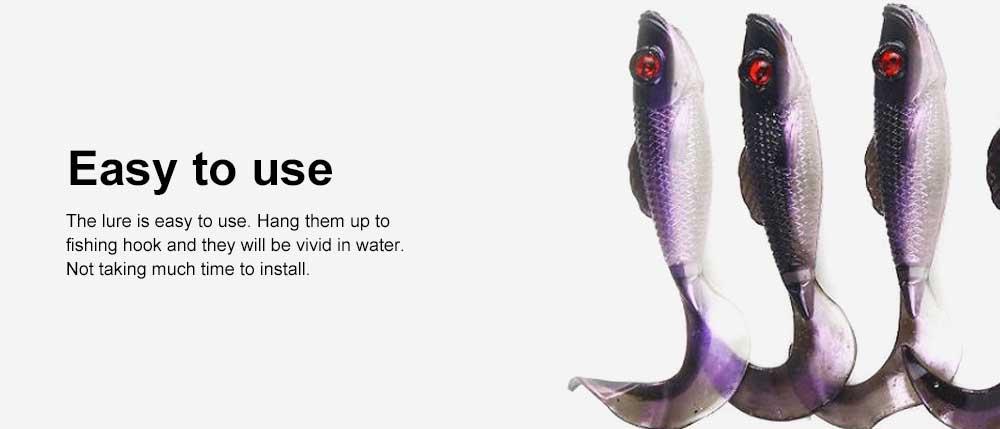Two Colors Soft Fishing Lure Minnow Grub Artificial Fishing Lure Bionic Fishing Lure Baits Life-like Lure 5