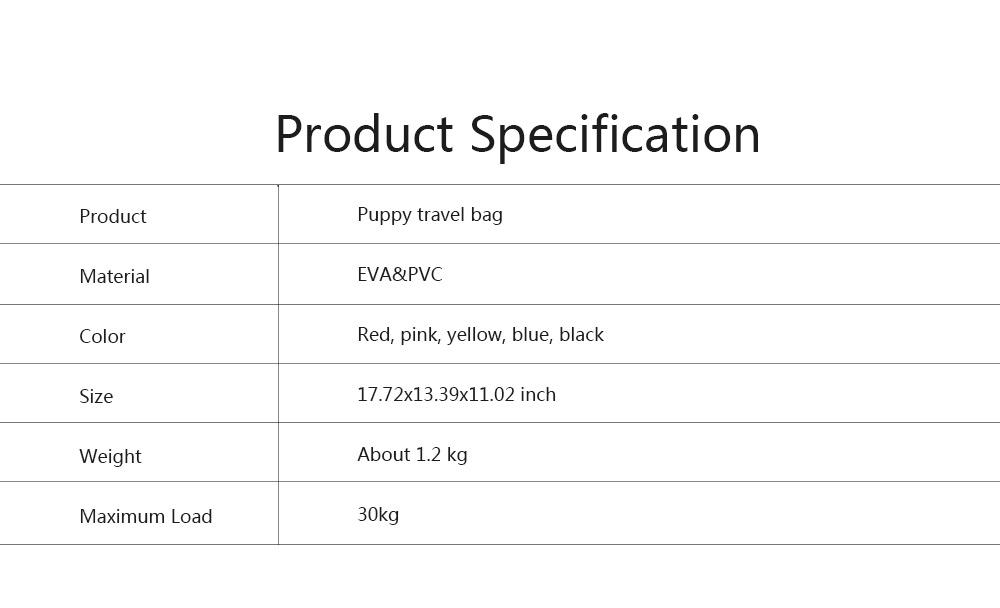 Pet Bag Intelligent Cooling EVA Puppy Travel Cage Portable Collapsible One Shoulder Handbag for Pet Dog Cat Travel Bag 6