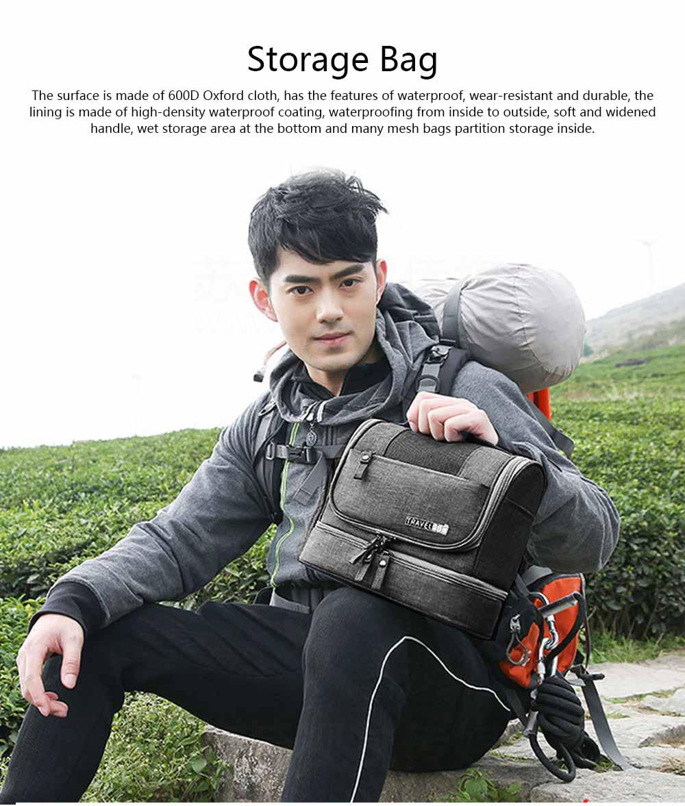 Storage Bag Dry Wet Depart Wash Bag Large Capacity Portable Waterproof Cosmetic Bag for Travel Business Trip 0