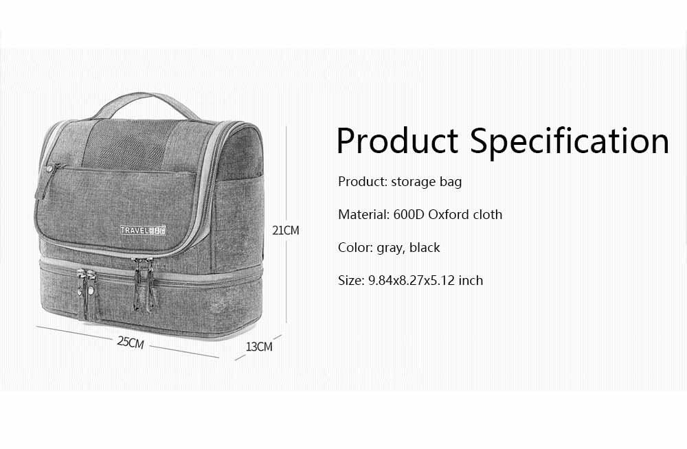 Storage Bag Dry Wet Depart Wash Bag Large Capacity Portable Waterproof Cosmetic Bag for Travel Business Trip 6