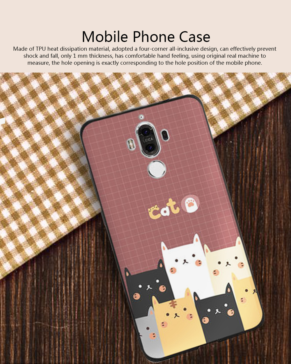Cameo Brown Silicone Soft Shell for HUAWEI Mate 9 Pro, 10, 20 Pro, 20x All-inclusive Protection Fall Prevention Mobile Phone Case 0