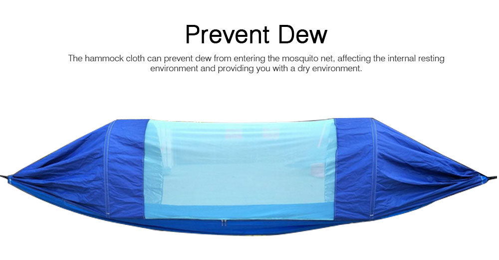 Outdoor Camping Hammock Nylon Material Enclose Style Parachute Cloth Anti-Mosquito Bed Net Ultraviolet-proof High-bearing for Two Peoples Hammock 3