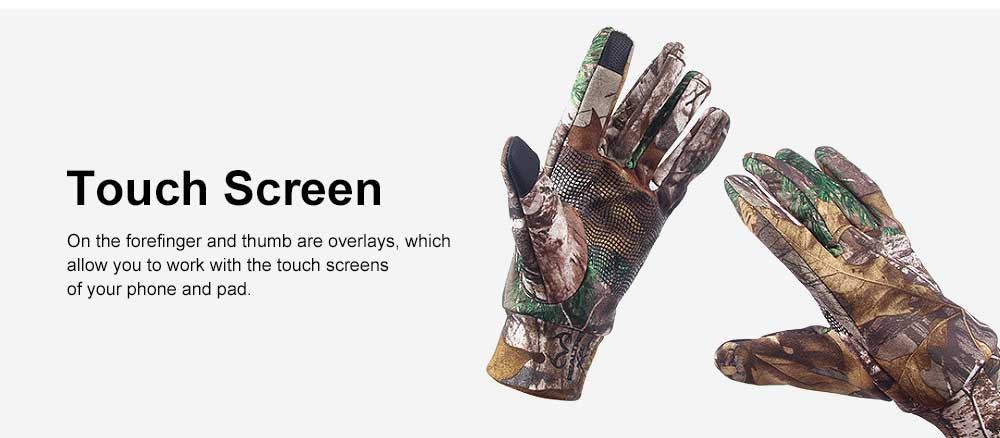 Outdoor Camouflage Gloves Thin Section Windproof Warm Gloves Anti-slip Fishing Gloves For Men, Women 3