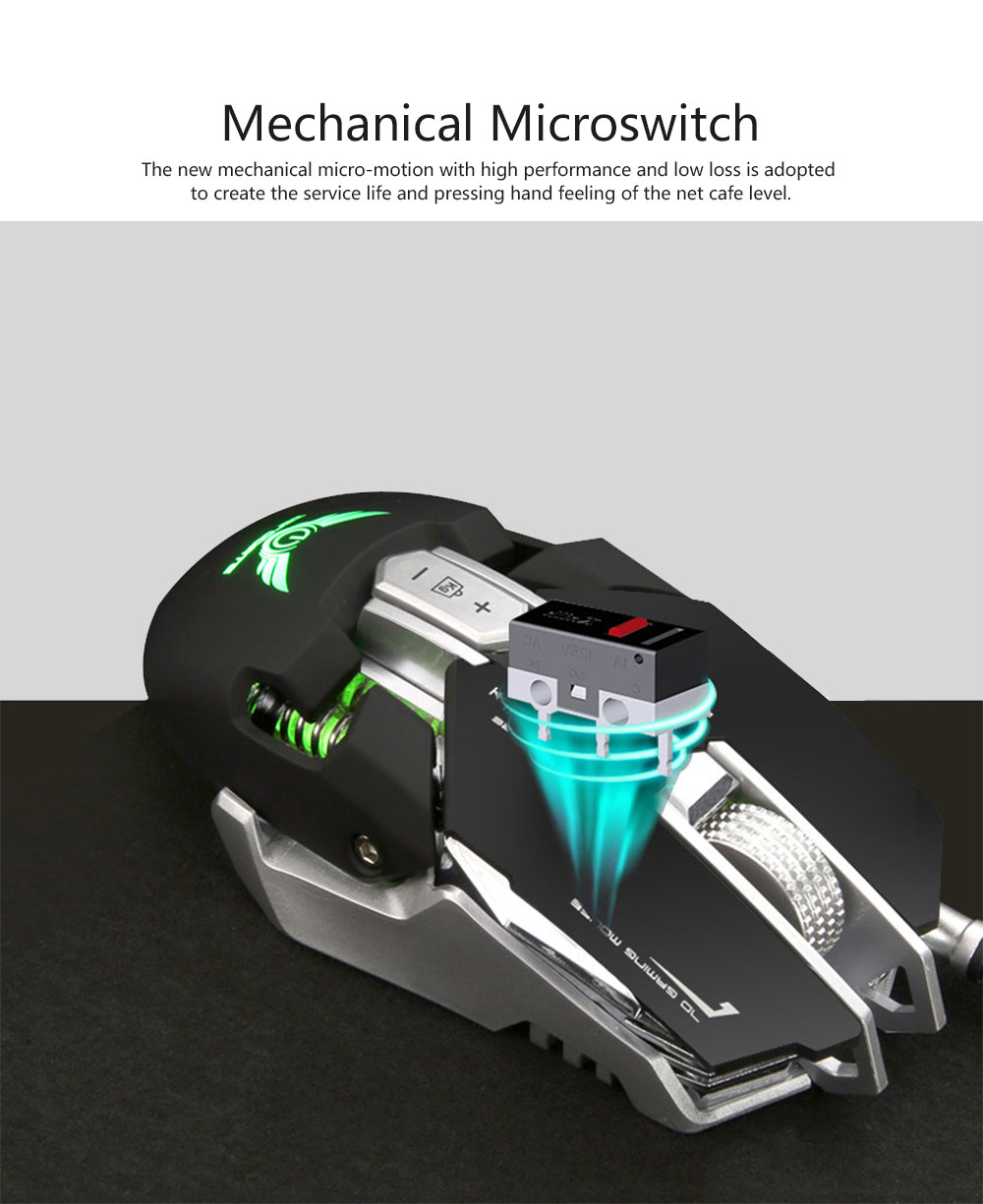 ZERODATE G9 Gaming Mouse Wired Mechanical Mouse Herdsman Macro-program LED Mouse for Game Competition Office Internet Bar Laptop 4